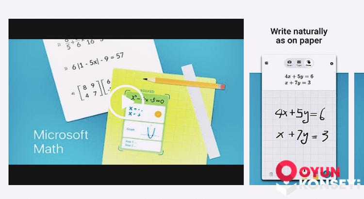 Microsoft Matematik Uygulamasını Yayınladı