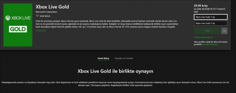 Xbox live gold 12 aylık abonelik kaldırıldımı