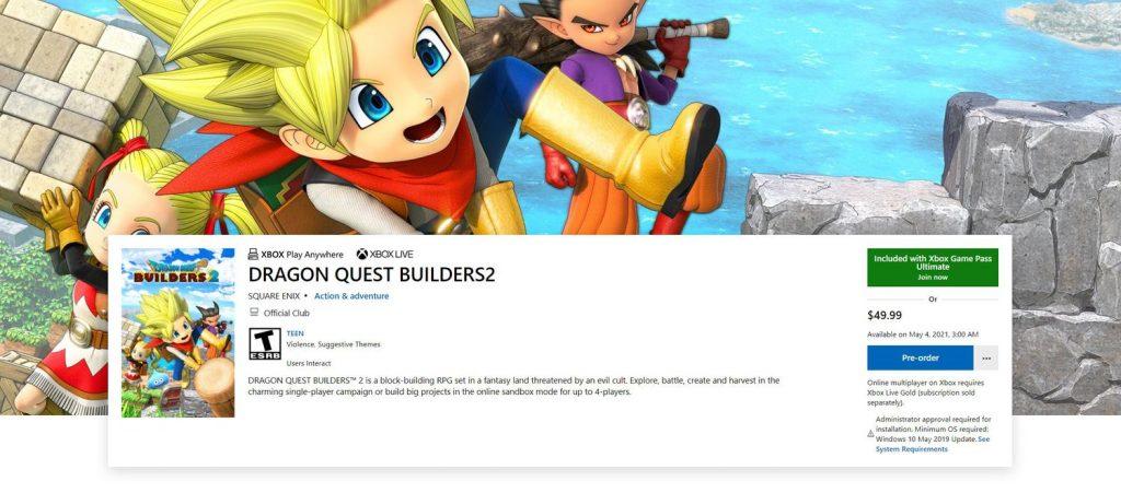dragon-quest-builders-2-xbox-game-pass-kutuphanesine-ekleniyor